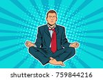 young businessman sitting in...   Shutterstock . vector #759844216