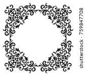 vintage baroque frame scroll... | Shutterstock .eps vector #759847708