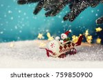 christmas greeting card | Shutterstock . vector #759850900