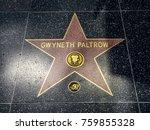 gwyneth paltrow's star ... | Shutterstock . vector #759855328
