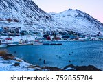 Siglufjordur Harbor  At Dawn I...