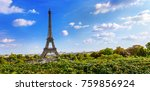 the eiffel tower is a metal... | Shutterstock . vector #759856924