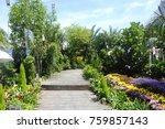 pedestrian walkway at the...   Shutterstock . vector #759857143