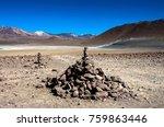 laguna verde is a salt lake at...   Shutterstock . vector #759863446