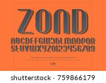 alphabet letters and numbers... | Shutterstock .eps vector #759866179