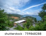 view from afar to patong beach. ... | Shutterstock . vector #759868288