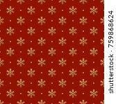 christmas seamless pattern of... | Shutterstock .eps vector #759868624