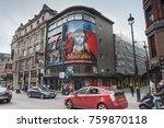 shaftesbury avenue  soho ... | Shutterstock . vector #759870118