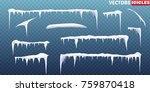 snow icicles isolated on... | Shutterstock .eps vector #759870418