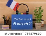 concept of learning french... | Shutterstock . vector #759879610