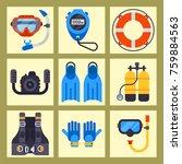set of flat elements for... | Shutterstock .eps vector #759884563