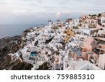 view of famous white buildings... | Shutterstock . vector #759885310