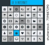 big ui and internet icon set | Shutterstock .eps vector #759887290