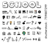 school and educational icons | Shutterstock .eps vector #759887299