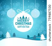 2018 christmas and happy new... | Shutterstock .eps vector #759887530
