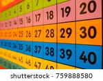 colorful number poster as... | Shutterstock . vector #759888580