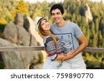 sensual hugs of a lovers couple ... | Shutterstock . vector #759890770