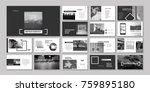 original presentation templates ... | Shutterstock .eps vector #759895180
