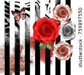 rose flowers pattern.for... | Shutterstock . vector #759897550