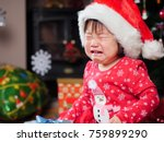 crying baby girl missing her... | Shutterstock . vector #759899290