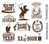 set of wild west decorative... | Shutterstock .eps vector #759900238