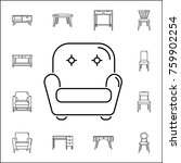 armchair icon. set of household ... | Shutterstock .eps vector #759902254