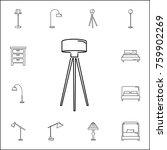 floor lamp icon. set of...   Shutterstock .eps vector #759902269