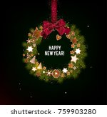 christmas background with... | Shutterstock .eps vector #759903280