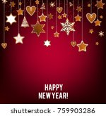 christmas background with... | Shutterstock .eps vector #759903286