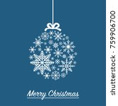 christmas ball made from...   Shutterstock .eps vector #759906700