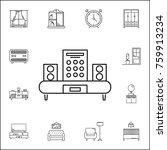 set of audio speaker icons. set ...   Shutterstock .eps vector #759913234