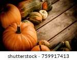 autumn nature concept. fall... | Shutterstock . vector #759917413