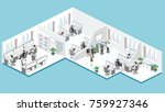 flat 3d isometric abstract... | Shutterstock .eps vector #759927346