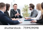 businessman at a meeting with... | Shutterstock . vector #759929098