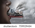 toxic pollutants inside the... | Shutterstock . vector #759929434