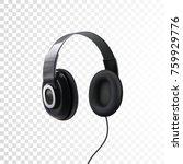 Black Headphones. 3d Realistic...