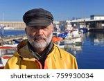 portrait of a fisherman in the... | Shutterstock . vector #759930034