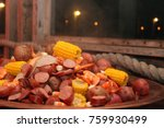 lowcountry boil dock party | Shutterstock . vector #759930499
