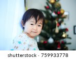 cute child  christmas image | Shutterstock . vector #759933778