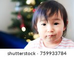 cute child  christmas image | Shutterstock . vector #759933784