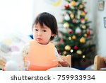 cute child  christmas image | Shutterstock . vector #759933934