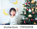 cute child  christmas image | Shutterstock . vector #759933958