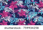 floral pattern in vector | Shutterstock .eps vector #759934258