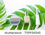 natural cosmetics bottle... | Shutterstock . vector #759934540