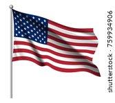waving national flag of united... | Shutterstock .eps vector #759934906