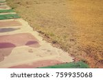 abandoned golf course old grass ... | Shutterstock . vector #759935068