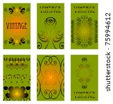 vintage elements cards... | Shutterstock .eps vector #75994612