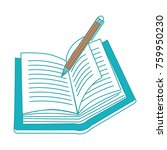 book and pen design | Shutterstock .eps vector #759950230