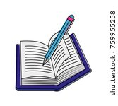 book and pen design | Shutterstock .eps vector #759955258