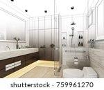 abstract sketch design of... | Shutterstock . vector #759961270